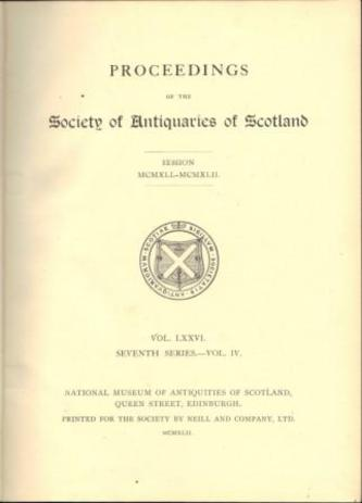 SOCIETY OF ANTIQUARIES OF SCOTLAND.